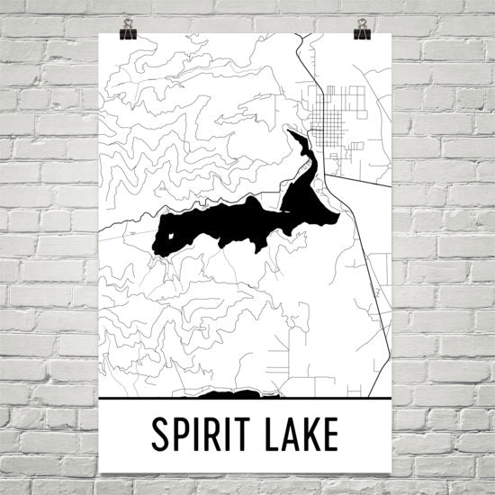 Spirit Lake ID Art and Maps