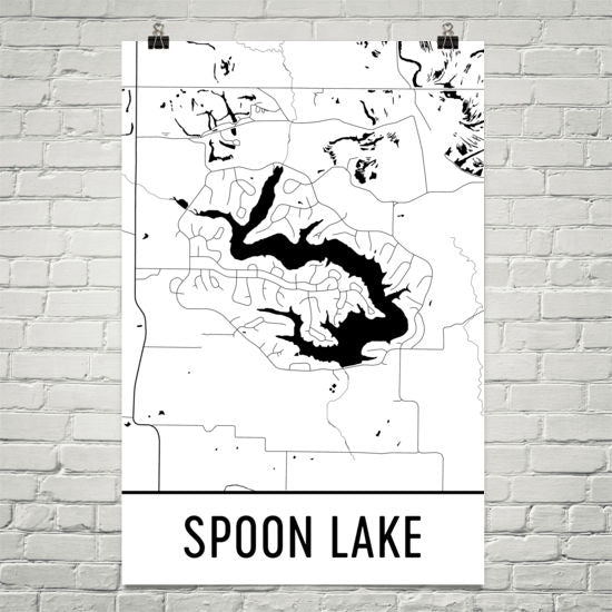 Spoon Lake IL Art and Maps