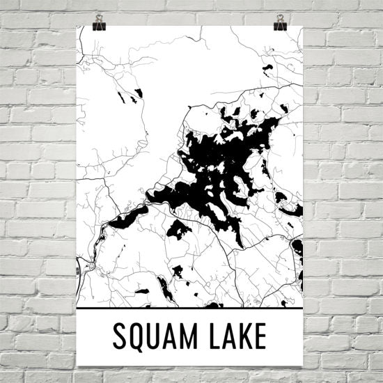Squam Lake NH Art and Maps