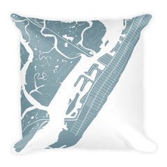 Stone Harbor Map Pillow – Modern Map Art