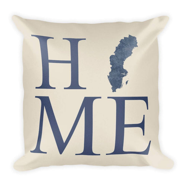 Sweden Map Pillow – Modern Map Art