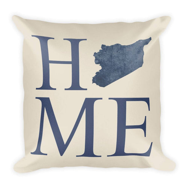 Syria Map Pillow – Modern Map Art