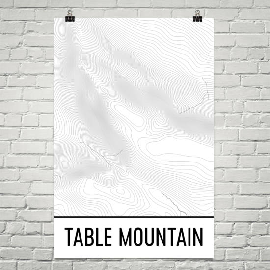 Table Mountain Topographic Map Art