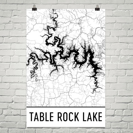 Table Rock Lake MO Art and Maps