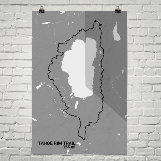 Tahoe Rim Trail Map Art Prints