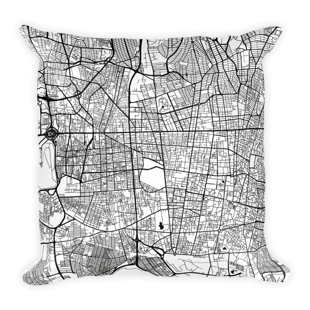 Tehran Map Pillow – Modern Map Art