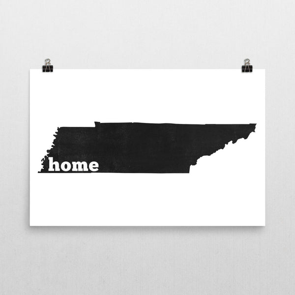 Tennessee Home State Map Art