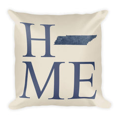 Tennessee Map Pillow – Modern Map Art
