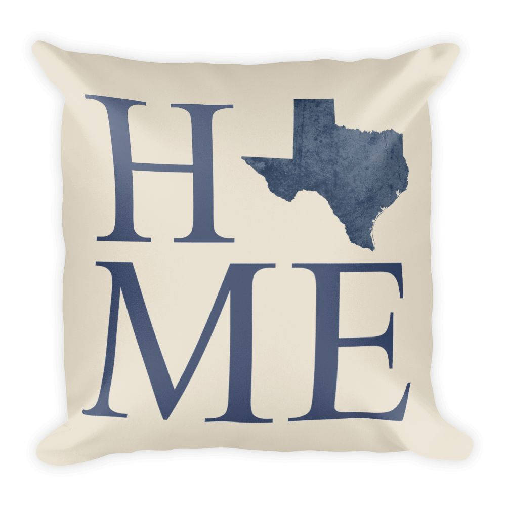 Texas Map Pillow – Modern Map Art