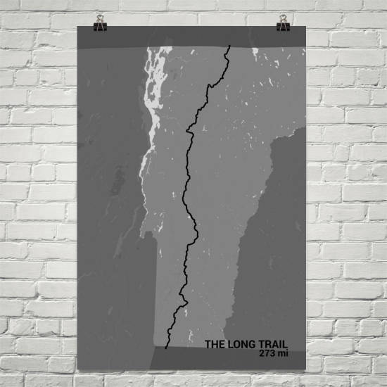 The Long Trail Map Art Prints
