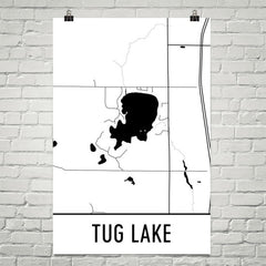 Tug Lake WI Art and Maps