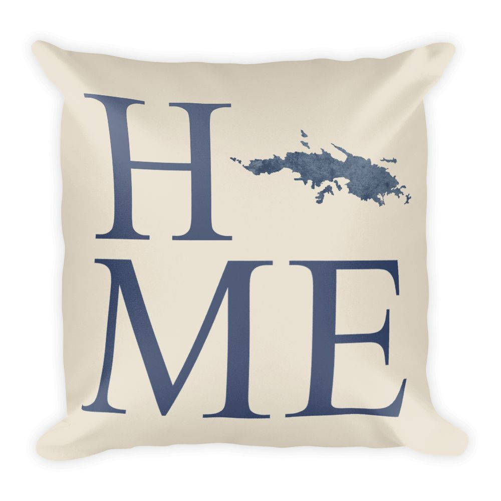 US Virgin Islands Map Pillow – Modern Map Art