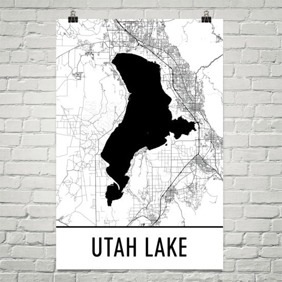 Utah Lake UT Art and Maps