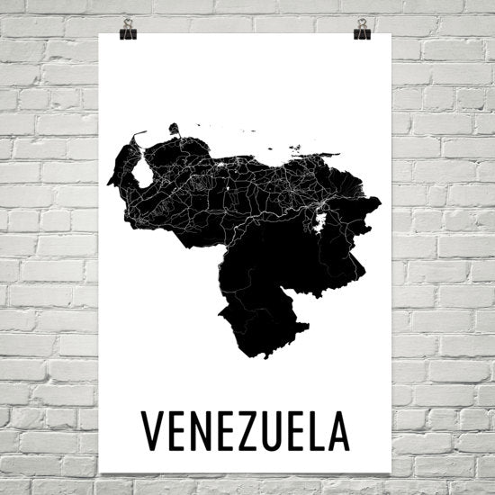 Venezuela Wall Map Print - Modern Map Art
