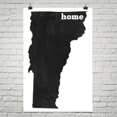 Vermont Home State Map Art