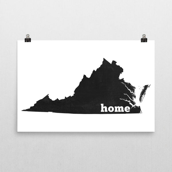 Virginia Home State Map Art