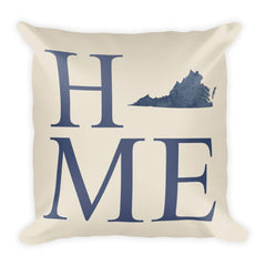 Virginia Map Pillow – Modern Map Art