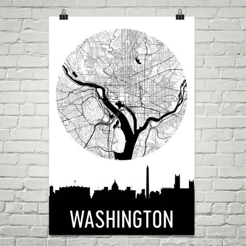 District of Columbia Gifts, Souvenirs, and DC Décor – Modern Map Art