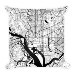 Washington DC Map Pillow – Modern Map Art