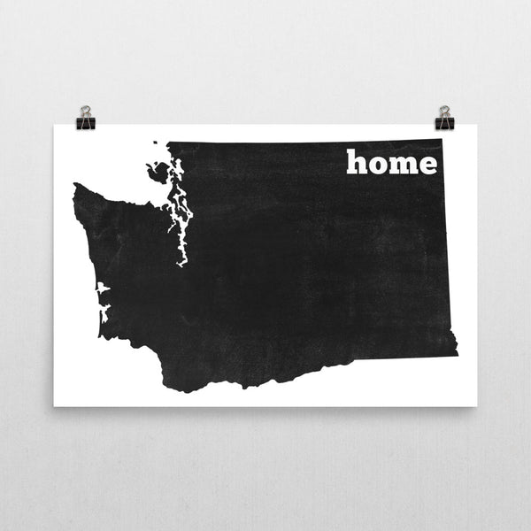 Washington Home State Map Art