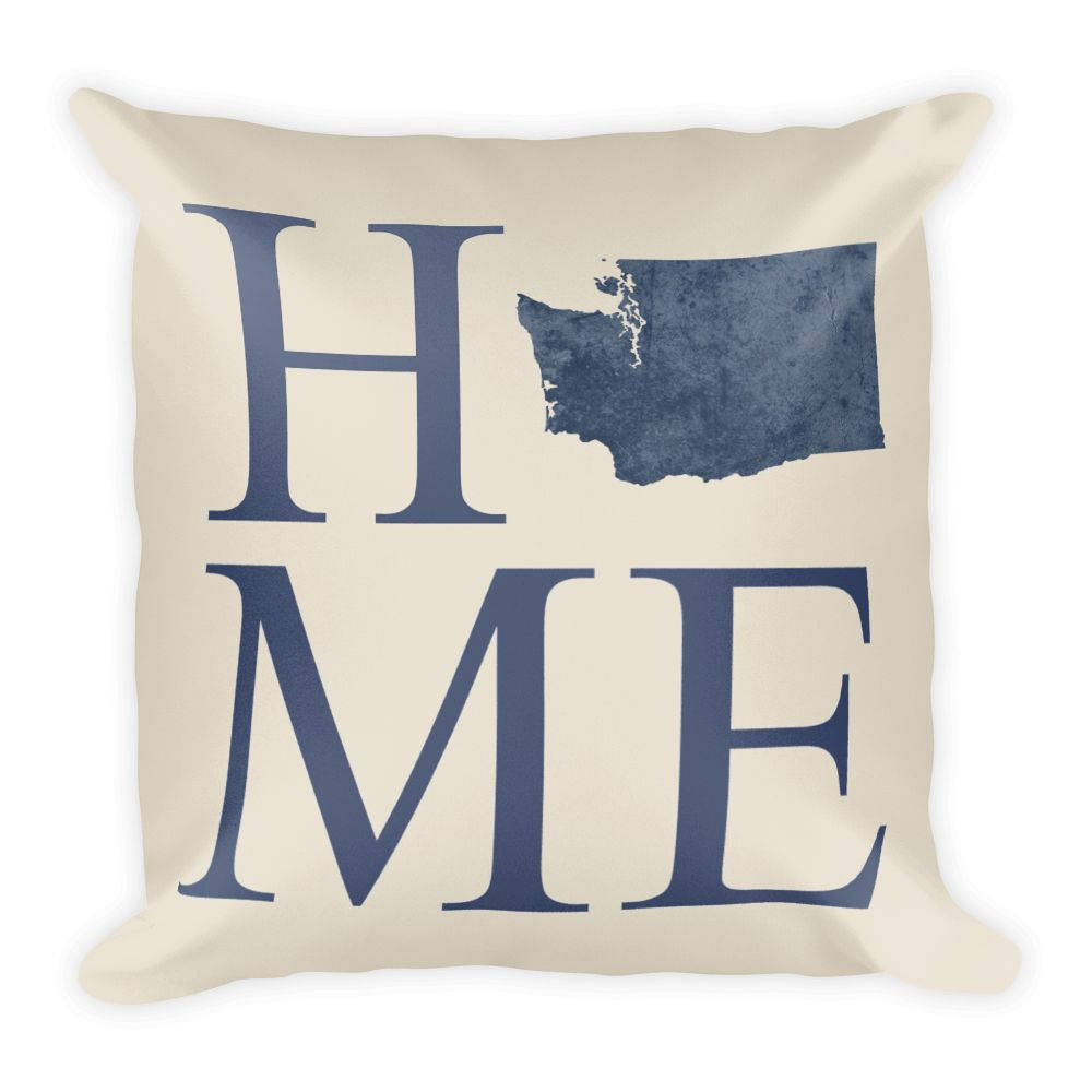 Washington Map Pillow – Modern Map Art