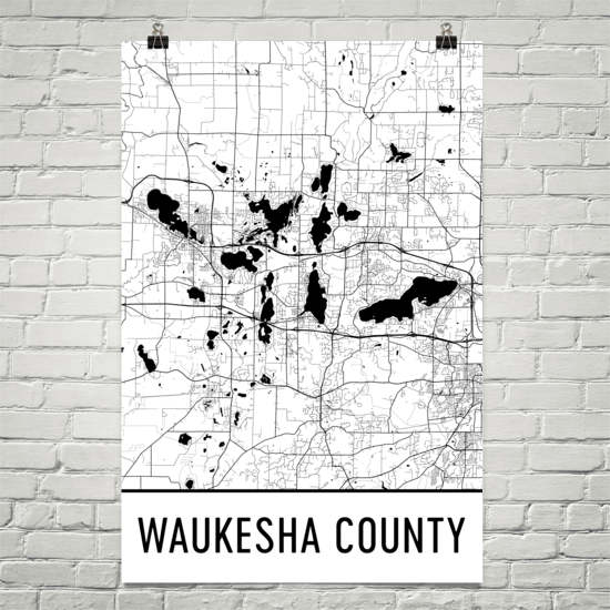 Waukesha County WI Art and Maps
