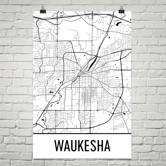 Waukesha WI Art and Maps