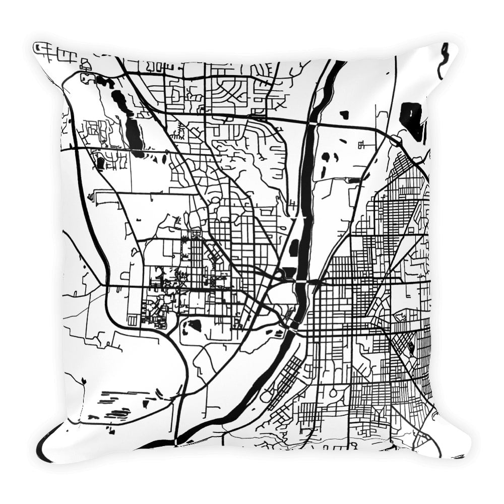 West Lafayette Map Pillow – Modern Map Art