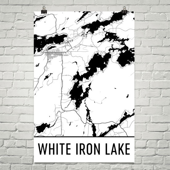 White Iron Lake MN Art and Maps