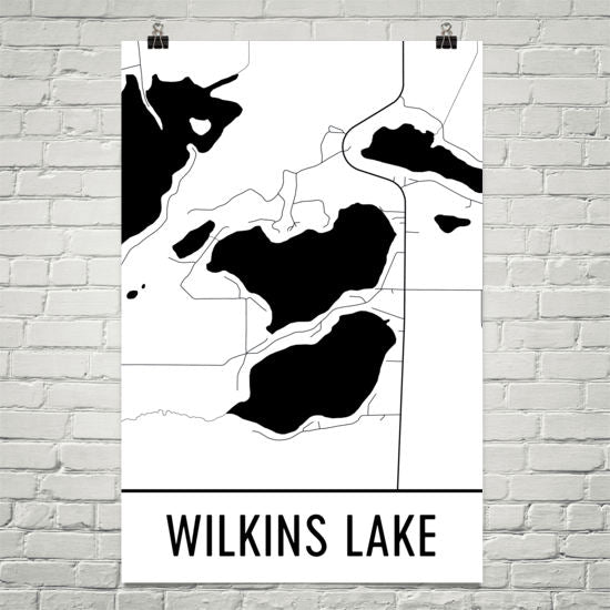 Wilkins Lake MN Art and Maps