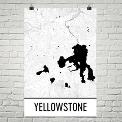 Yellowstone National Park Topographic Map Art