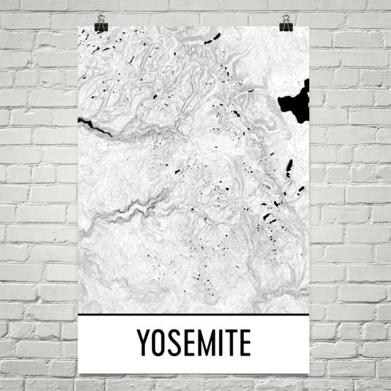 Yosemite Topographic Map Art