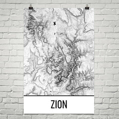 Zion Topographic Map Art
