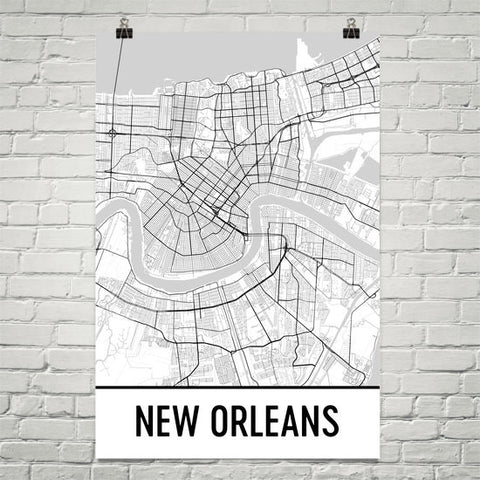 Louisiana Gifts, Souvenirs, and LA Décor – Modern Map Art