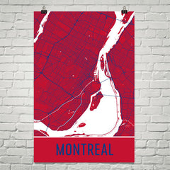 Montreal QC Street Map Poster Black