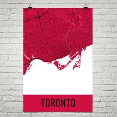 Toronto ON Street Map Poster White