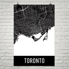 Toronto ON Street Map Poster Blue