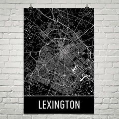 Lexington KY Street Map Poster Blue