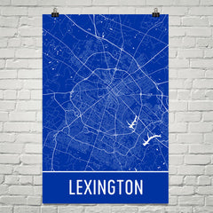 Lexington KY Street Map Poster White