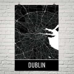 Dublin Street Map Poster Green