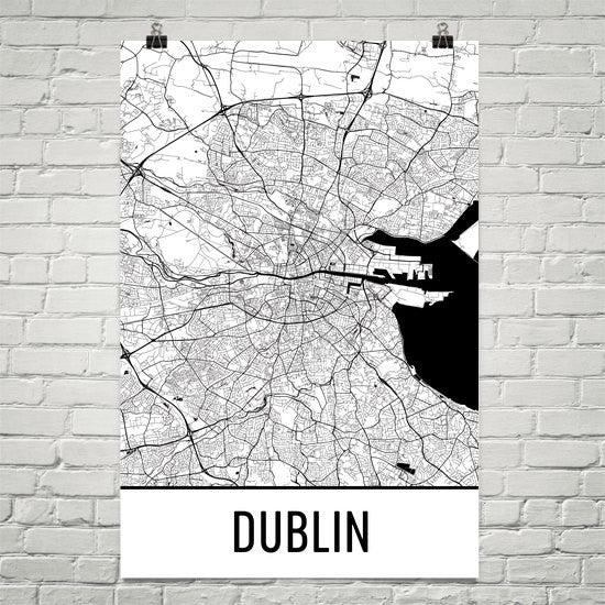Dublin Street Map Poster Black