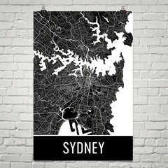Sydney Australia Gifts and Decor - Modern Map Art