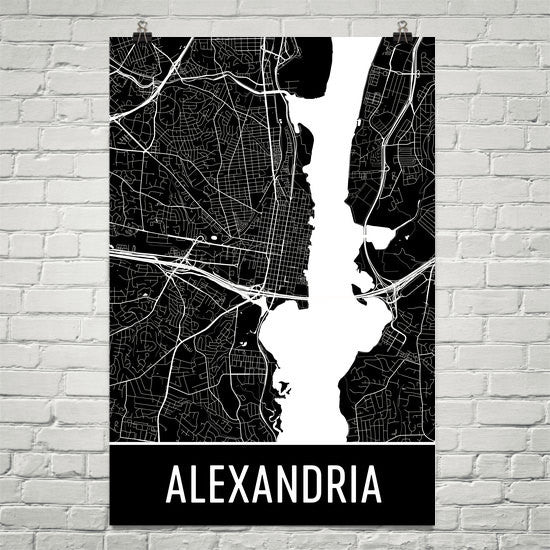 Alexandria VA Virginia Map, Art, Print, Poster, Wall Art From $29.99 - ModernMapArt - Modern Map Art