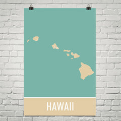 Hawaii USA Street Map Poster Black