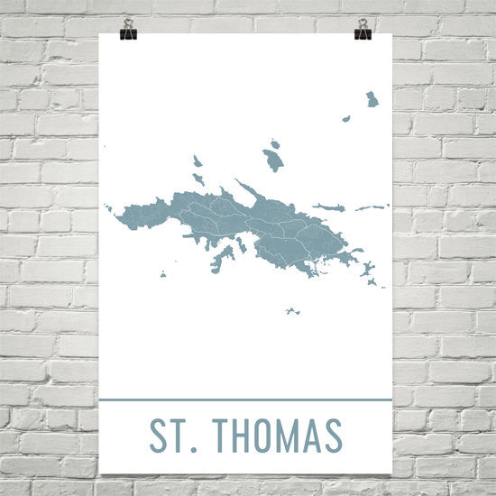 St. Thomas Street Map Poster White