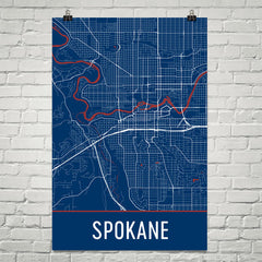 Spokane WA Map, Art, Print, Poster, Wall Art From $29.99 - ModernMapArt - Modern Map Art