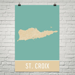 St. Croix Street Map Poster Black
