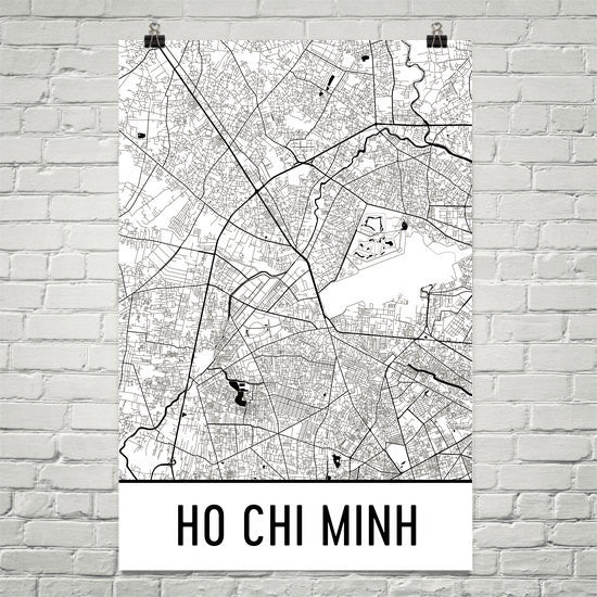 Ho Chi Minh City Street Map Poster White
