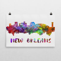 New Orleans Skyline, Canvas, Art, Watercolor Skyline From $29.99 - Modern Map Art - Modern Map Art