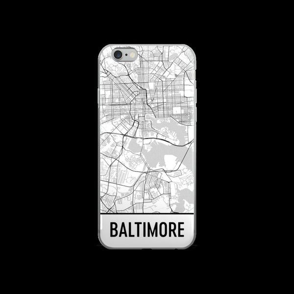 Baltimore iPhone Case, Phone Case, Baltimore MD Phone Case From $29.99 - Modern Map Art - Modern Map Art